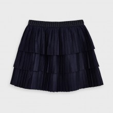 Girls Soft Pleated Skirt 4958 (Navy)