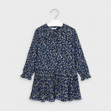 Girls Heart Chiffon Dress 4975 (Navy)