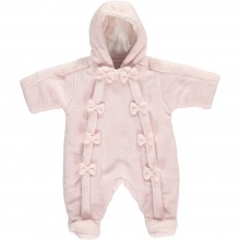 Fabienne Pale Pink Fleece Pram Suit
