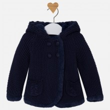 Pompom Knit Cardigan - Deep Blue (2313)