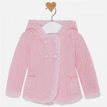 Pompom Knit Cardigan - Pink (2313)