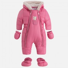 Pram Suit with Teddy Bear Detail - Pink (2611)