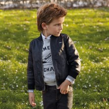 Boys Leather Jacket  - Black (4404)