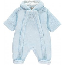 Nolan -Pale Blue Fleece Pramsuit