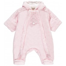 Nixie - Pink Fleece Pramsuit