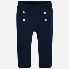 Infant Leggings with Button Detail - Navy (2574)