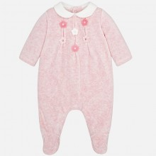 Babygrow with Flower Detail - Rose (2756)