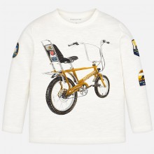 Long Sleeve Bicycle Top - Cream (4034)