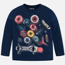 Long Sleeve Skate T-Shirt - Navy (4038)