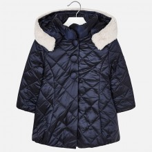 Girls Navy Blue Padded Coat (4424)
