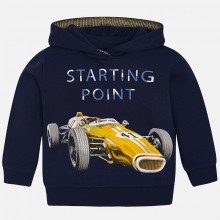 Hooded Sweatshirt Racing Car - Navy (4434)