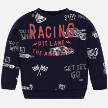 Sweatshirt - Racing Print - Navy (4438)