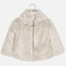 Faux Fur Coat - Cream (4494)