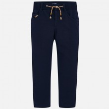 Drawstring waist Soft Trousers -Navy (4540)