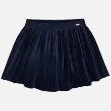 Pleated Soft Skirt - Navy (4920)