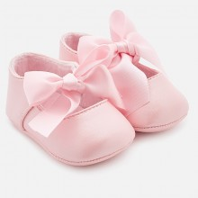 Girls Ribbon Shoes - Pink (9930)