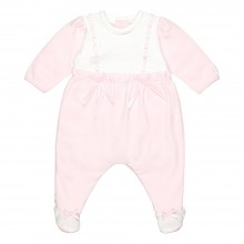 Peggy - Babygrow with Ribbon Lace Detail