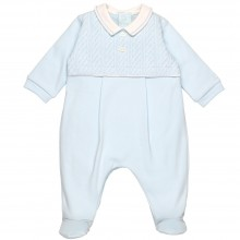 Richard  - Babygrow with Embroidered Yoke