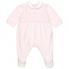 Rochelle - Babygrow with Embroidered Yoke