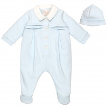 Rhys - Babygrow with Pleated Yoke and Hat