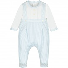 Sullivan - Striped Babygrow with Mock Braces