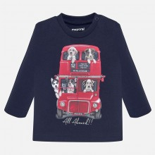 Infant Boys Long Sleeve Top - Navy (2027)