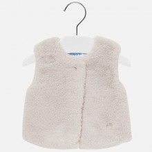 Infant Girls Faux Fur Gilet - Beige (2317)
