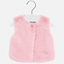 Infant Girls Faux Fur Gilet - Pink (2317)