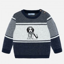 Infant Boys Dog Print Sweater (2322)