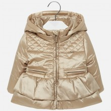 Infant Girls Padded Coat - Gold (2434)