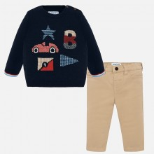 Infant Boys Two Piece Set - Navy (2546)