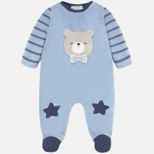 Baby Boys Bear Babygrow - Blue (2727)