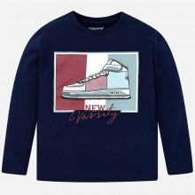 Boys Sequin Trainer Top - Navy (4027)