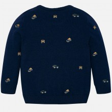Boys Embroidered Sweater - Navy (4316)