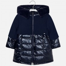 Girls Padded Coat - Navy (4419)