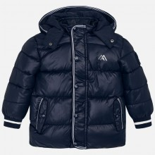 Boys Coat with White Edging - Navy (4442)