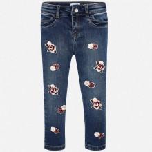Girls Applique Flower Jeans (4505)