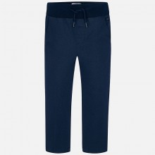 Boys Printed Chinos - Navy (4506)