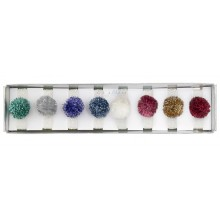 Metallic Pompom Hair Ties