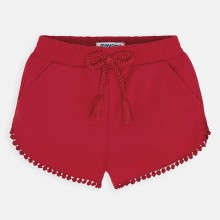Girls Chenille Shorts (Red) 607