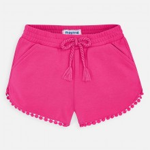Girls Chenille Shorts (Fuchsia) 607