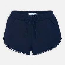 Girls Chenille Shorts - (Navy) 607