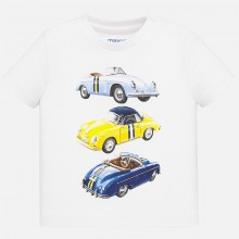 Infant Boys Vintage Car T-Shirt (White) 1039