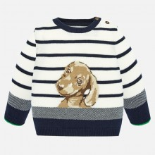 Infant Boys Dog Sweater (Cream) 1321
