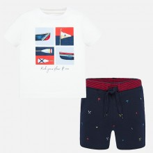 Infant Boys T-Shirt and Shorts Set (Navy) 1694