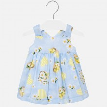 Infant Girl Hearts and Flowers Poplin Dress (Blue) 1931