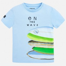 Boys Surf Board T-Shirt (Sky) 3067