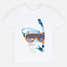 Boys Lenticular Short Sleeve T-Shirt (White) 3070