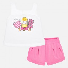 Girls Ice Lolly print Short Set (Pink) 3291