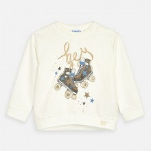 Girls Roller Skates Sweatshirt (Cream) 3462